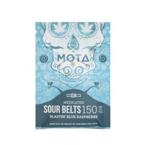 Buy MOTA Blue Raspberry Sour Belts UK