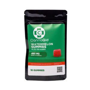 CannaAid Watermelon Delta 8 THC Gummies UK – 30mg