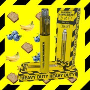 Work Delta 8 THC + D10 Sledgehammer Disposable UK Vape – Blueberry Banana Bread